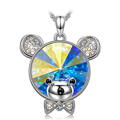 Amazon kate lynn gifts for mom teddy bear pendants necklace kate lynn gifts for mom teddy bear pendants necklace swarovski crystals gifts for women anniversary gifts aloadofball Images