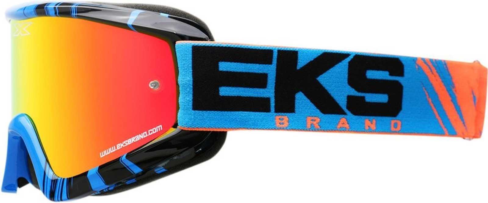 EKS Brand GO-X Fade Phantom Adult Dirt Bike Motorcycle Goggles Eyewear - Flo Orange/Black/White One Size Fits All
