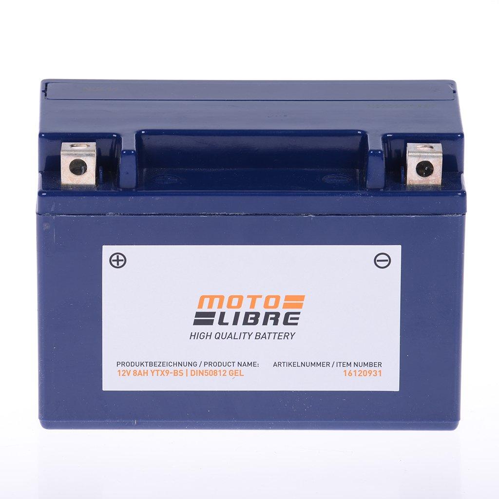 Batería 12V 8Ah YTX9-BS de BS Gel motolibre 50812Kymco Mxu 50Ac 06–09