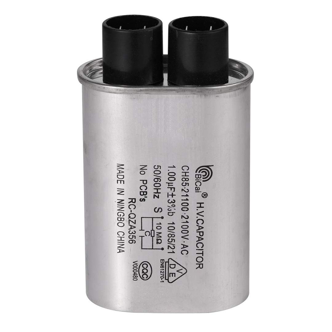 BlueCatELE 1/4 in 1.00 MFD uF Universal Microwave Capacitor Compatible for GE Samsung LG Media Hair Amana Kenmore Mayta and Whirlpool