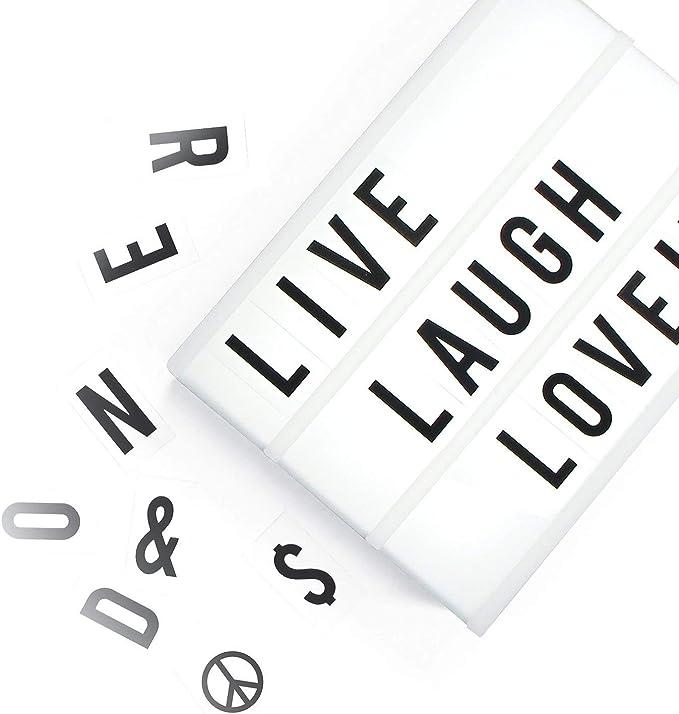 A4 Lightbox, caja ligera con 100 letras, Emojis y símbolos ...