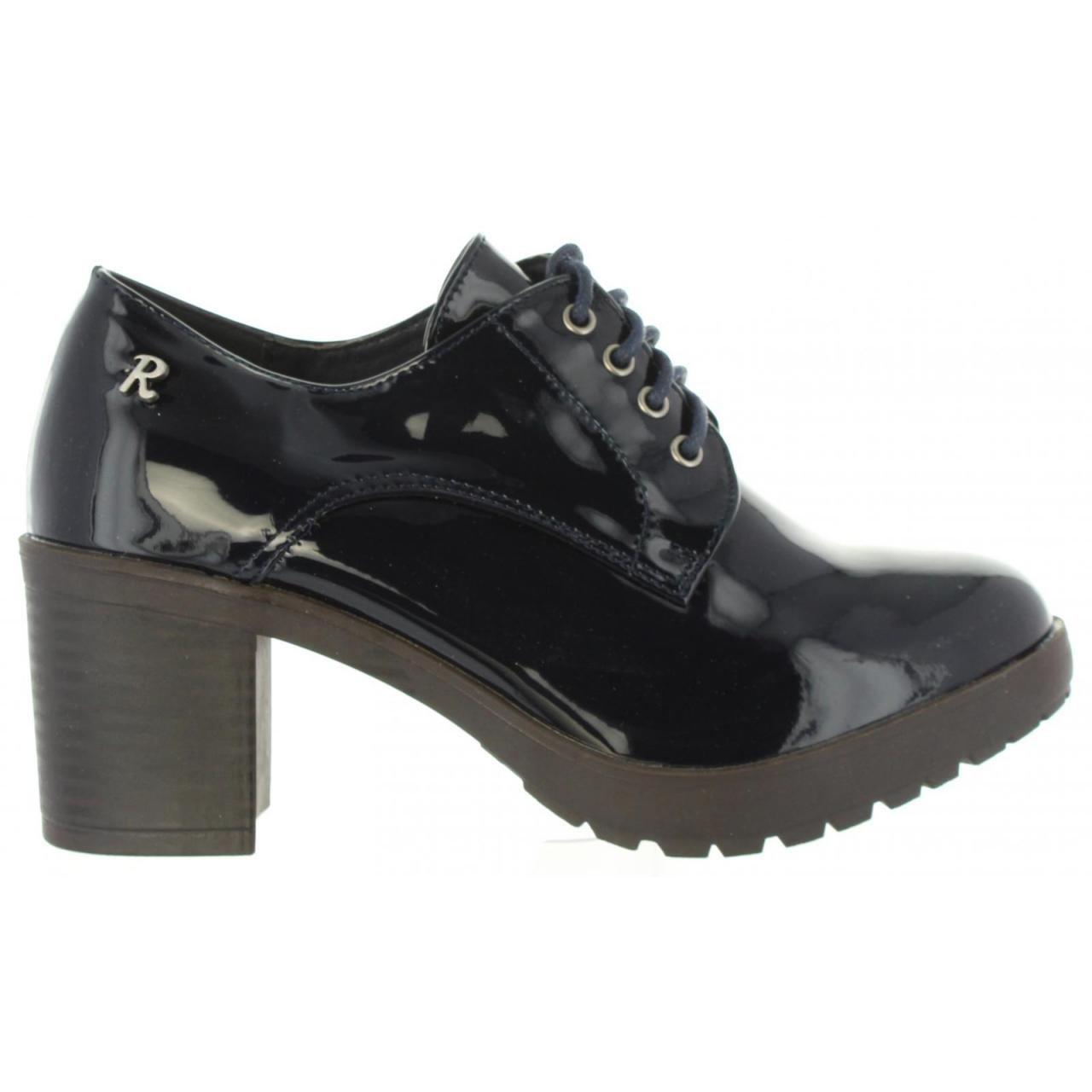 TALLA 39 EU. Zapatos de tacón de Mujer REFRESH 63661 Charol Navy