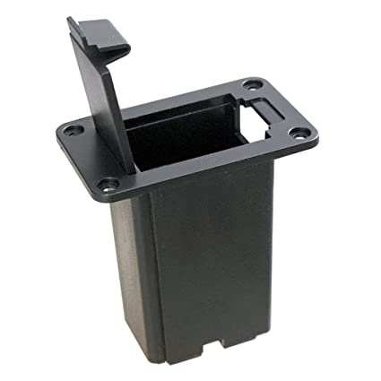 MagiDeal 9V Batería Cubierta Titular Caso de Plástico para Guitarra Eléctrica Negro 43x23x56mm