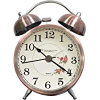 lunaoo Despertador Analogico Silencioso Sin Tictac, Reloj Despertador
