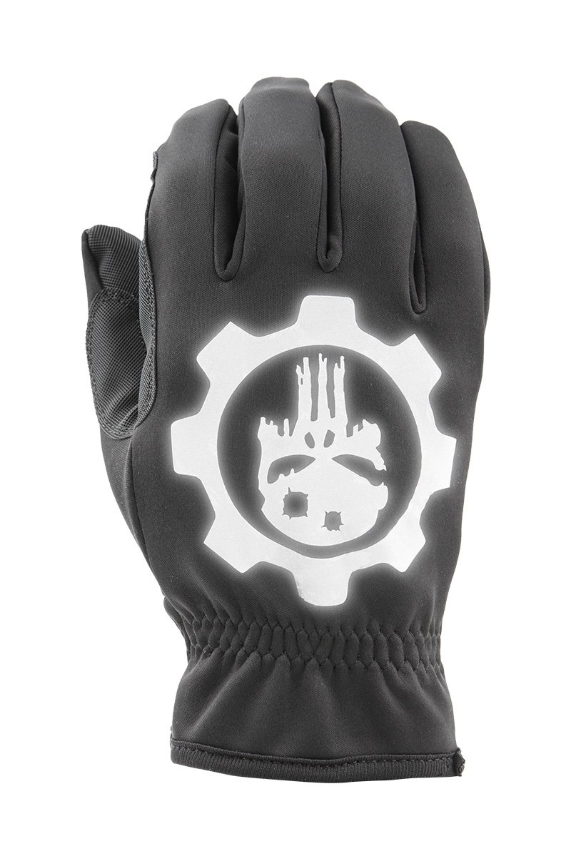 Punisher Skull USA Patriotic All Weather Reflective Gloves by Industrious Handwear