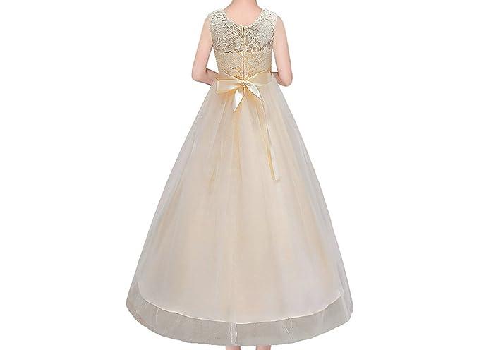 Timlung Princesa Vestido de niña de flores para la boda Vestidos: Amazon.es: Ropa y accesorios