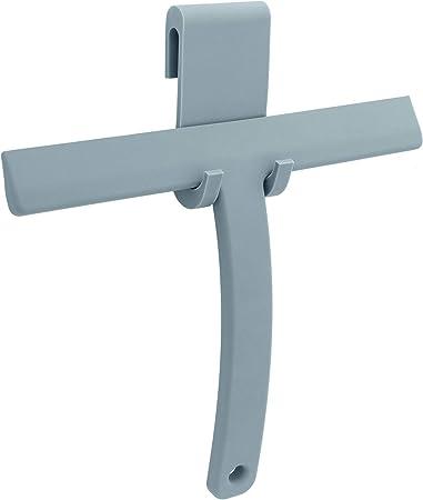 Libaro – Rasqueta de Ducha de Silicona Gris con Soporte Gancho para mampara de Ducha de Cristal para baño Ducha Azulejos Ventana: Amazon.es: Hogar