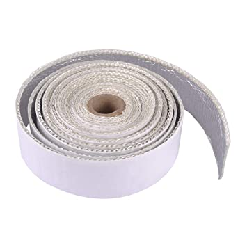 """1.5/"""" x 15/' Adhesive Backed Heat Shield Wrap Tape For Car Intake Intercooler Pipe"""