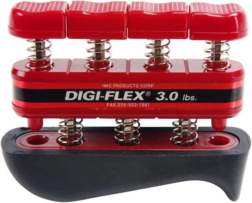 Digi-Flex Cando Hand and Finger Exercise System Red, 3 lbs Resistance