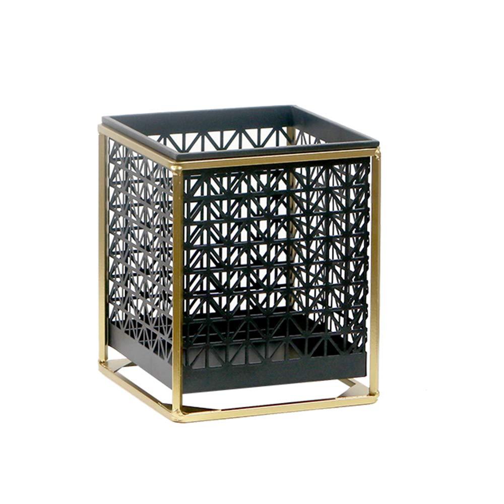 GYAO-Scaffali porta piante Decorazioni di Fiori in Vaso da Fiore in Metallo con Decorazioni Dorate (Dimensione   14.5x14.5x17cm)