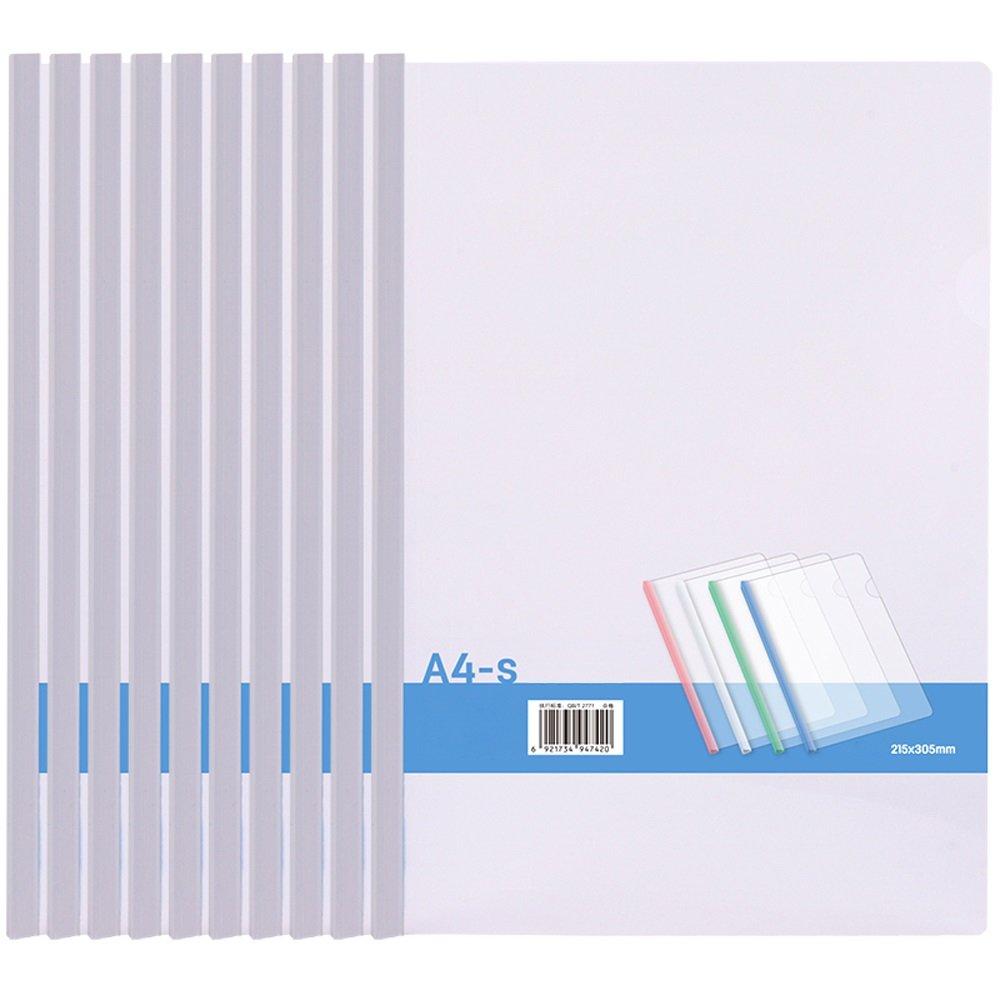 Cartera de Bolsillo porosa Perforada de plástico Transparente A4 DE 10 X A4 Transparente (Color : Blanco) 45c30d