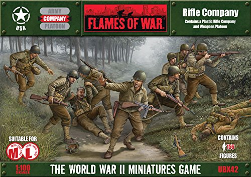 Flames Of War Usa Rifle Company (156 Figures, Plastic, Mid & Late War, Ubx42)