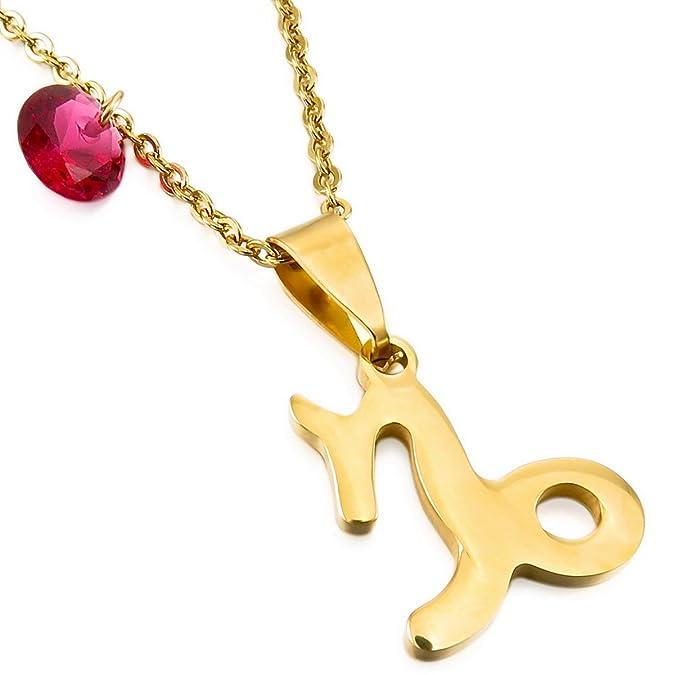MunkiMix Acier Inoxydable Verre Pendentif Collier Horoscope Signe Astrologique Zodiaque Zodiac dargent Ton Homme,Femme