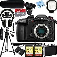 Panasonic LUMIX GH5S 10.2MP C4K Mirrorless ILC Camera Body Only with Wi-Fi, Bluetooth w/ Tascam DSLR Audio Recorder and Shotgun Microphone + 128GB & 64GB Pro Video Bundle