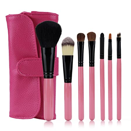 HCFKJ Pincel De Maquillaje Profesional 7 Piezas De Maquillaje Cepillo Conjunto Sombra De Ojos Cepillo CosméTicos Mezcla Cepillo Herramienta: Amazon.es: ...