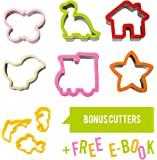 Budigus | Multi-Purpose Children's Cookie Cutter | Sandwich, Bread, Biscuit Cutter | Adorable Shapes For Use With Kids! | Durable Stainless Steel | Large 9 Piece Set
