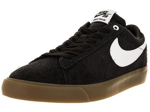 861decebfe0b 88f52 2bcc7  sale nike mens sb blazer low gt suede skate shoe black white  metallic gold d13fa a5795