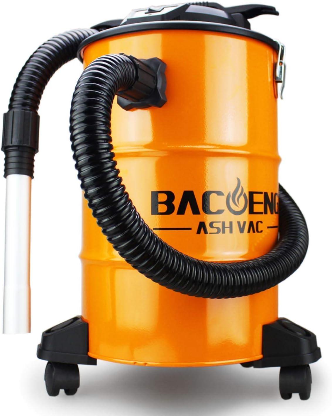 BACOENG Aspirador de Cenizas con Sistema de Doble Filtración, 1200 ...