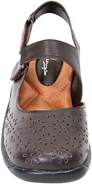 0c3d3f5b193 Peerage FIC Kylie Women Extra Wide Width Slingback Comfort Sandal Brown 5.  Back. Double-tap to zoom