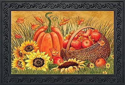 "Briarwood Lane Pumpkin And Apples Fall Doormat Sunflowers Autumn Indoor Outdoor 18"" x 30"""