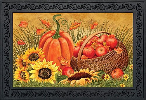 Briarwood Lane Pumpkin and Apples Fall Doormat Sunflowers Autumn Indoor Outdoor 18