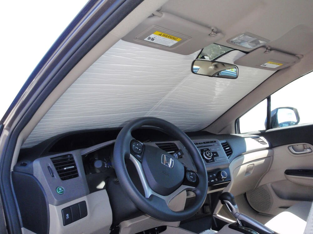 HeatShield The Original Auto Sunshade, Custom-Fit for Honda Civic Sedan 2012, 2013, 2014, 2015, Silver Series by HeatShield (Image #1)