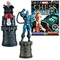 Marvel Professor X and Apocalypse Chess Piece with Collector Magazine