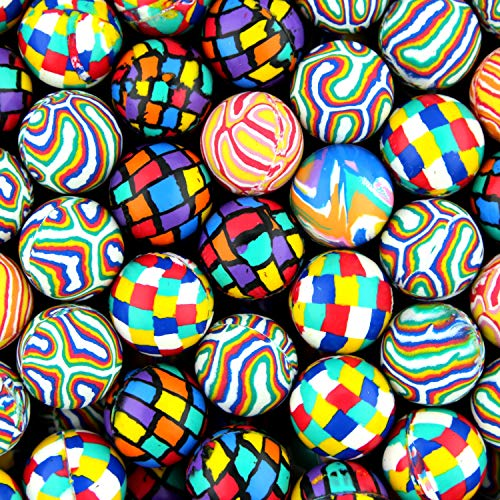 Bouncing Balls 25 mm Colorful Assorted Mixed Superball Colored Balls in bulk for vending machines Great for Kids Novelty Prizes Gifts in Bulk 300 pcs Rubber Large Bulk Bouncy Balls ()