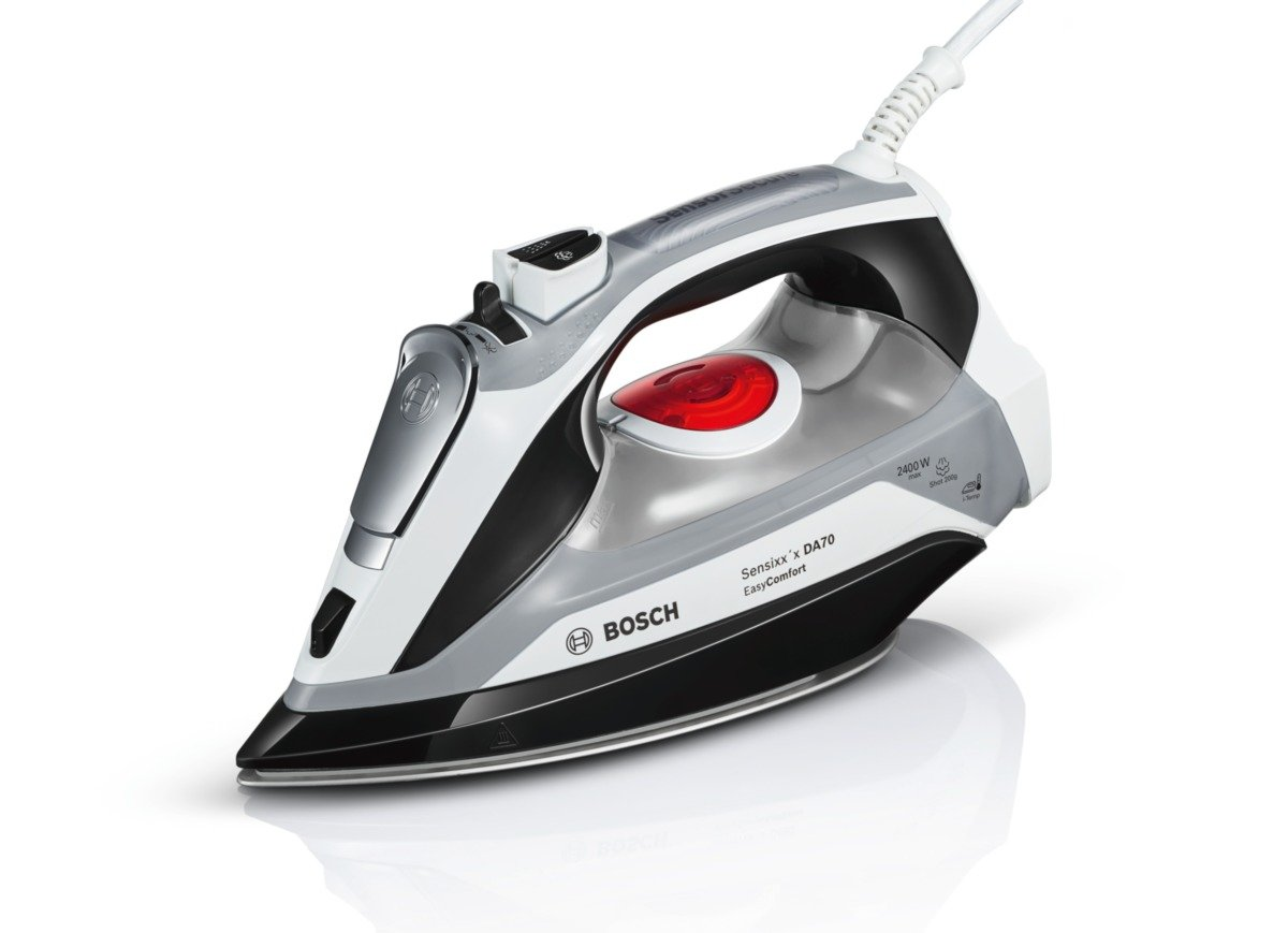 Bosch TDA70EYGB Sensixx'x DA70 EasyComfort Steam Iron, 2400 W, White/Black