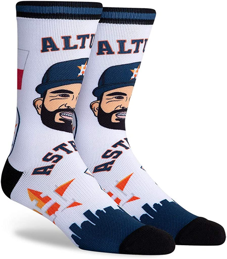 Jose Altuve Astros #27 Unisex 1-Pack Pins Player Crew Socks
