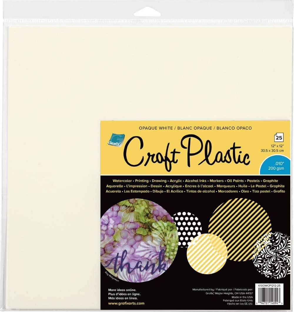 Sheets Pkg Grafix 12 x 12-inch Plastic Craft Sheets Pack Of 4 Clear