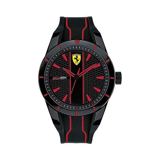 Reloj Scuderia Ferrari Red Rev fer0830481 al cuarzo (batería) plástico quandrante - No applicabile correa - No applicabile: Amazon.es: Relojes
