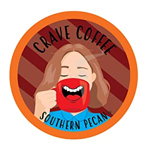 Crave Flavored Coffee Pods, Compatible with 2.0 K-Cup Brewers, Southern Pecan, 100 Count