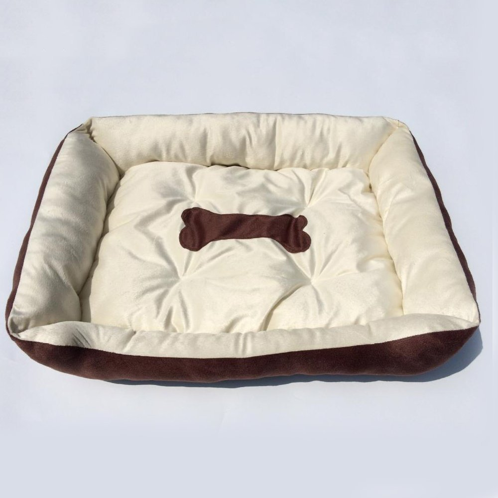 B 907015cmWUTOLUO Pet Bolster Dog Bed Comfort Cloth Square Corner Kennel cat nest (color   A, Size   45  30  15cm)