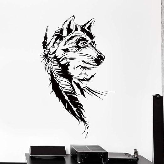 haotong11 Dream Catcher Tatuajes de Pared Dormitorio Lobo ...