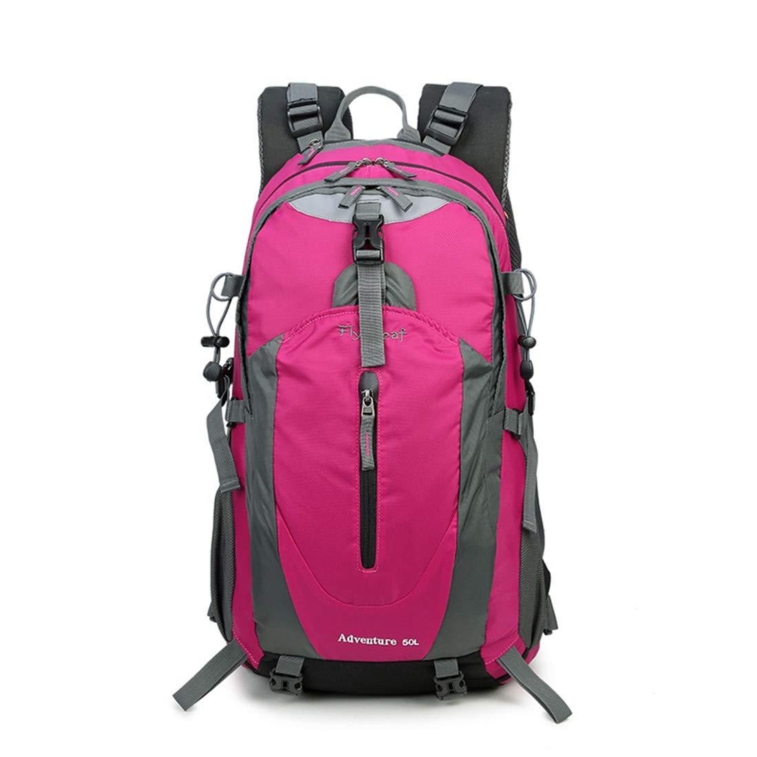 AREDOVL Mochilas Viajes multifunción Caminando Escalada Silvestre Camping Ocio Deporte Hombros neutros Adecuados para Uso en Exteriores (Color : Rose Red)