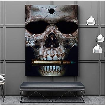 tableau peinture déco murale tête de mort 9