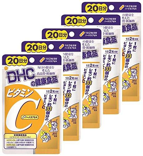 【ボール販売】DHC ビタミンC 20日分 40粒 5個セット (40粒×5) B00P2BSWDY