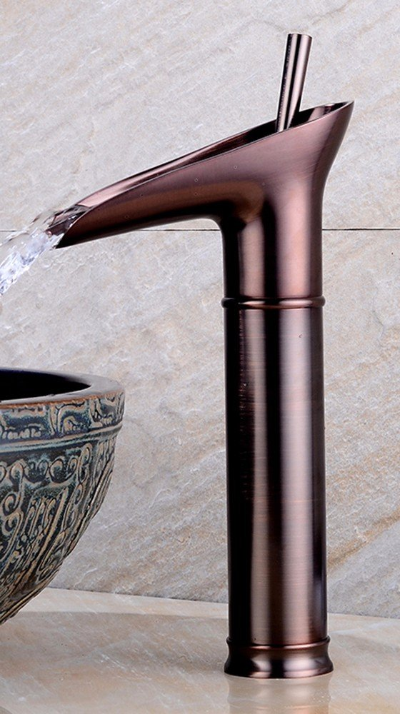 10 Hlluya Professional Sink Mixer Tap Kitchen Faucet Copper basin, Single Hole, hot and cold, wet cock 1