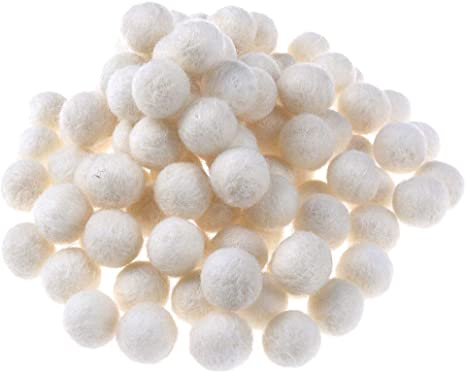10//100pcs Pom Pom Balls Wool Pompon 2cm Decorative Ball DIY Earring Necklace