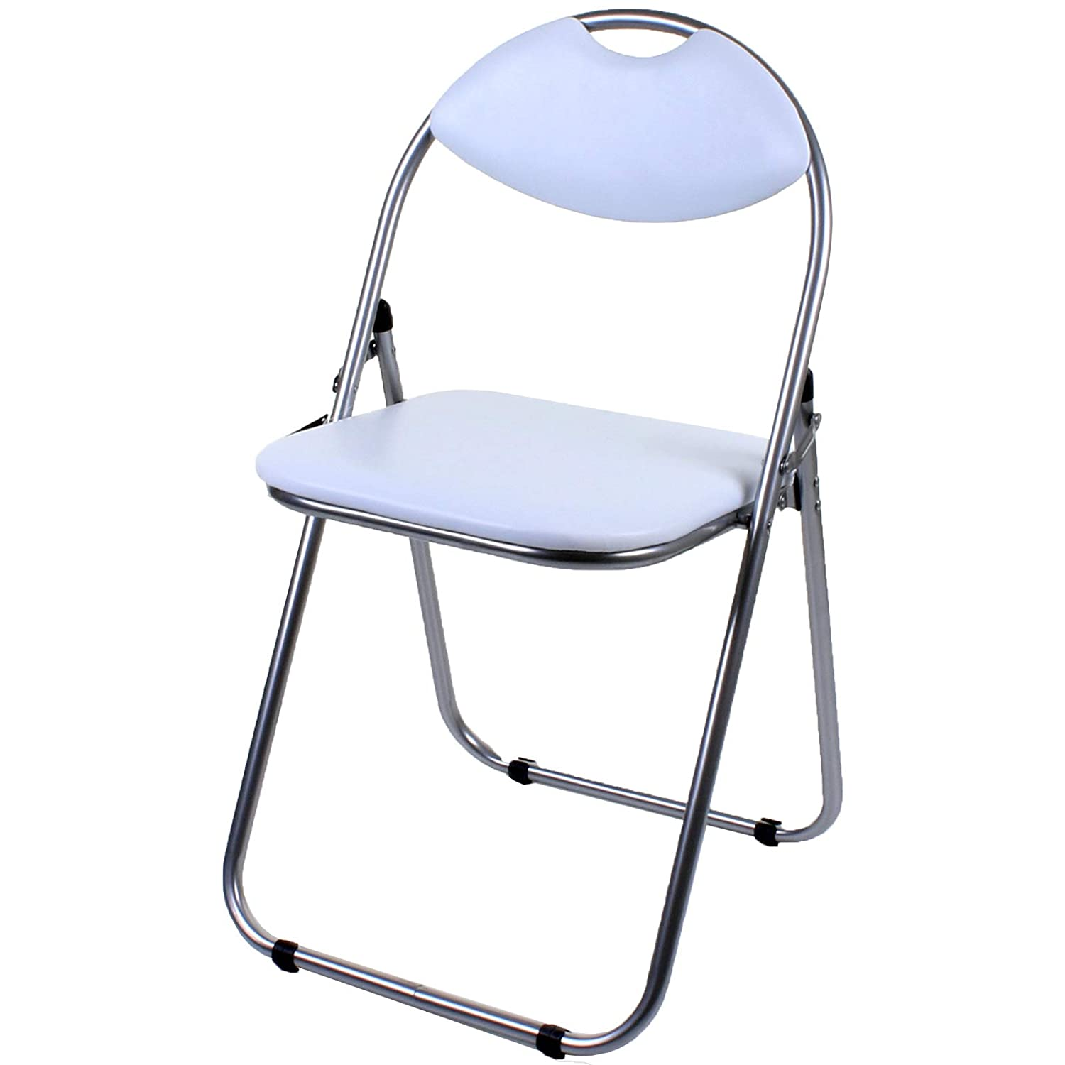 Super Marko Furniture Black Pink Faux Leather Folding Chair Padded Seat Back Rest Computer Office 1 Chair White Pabps2019 Chair Design Images Pabps2019Com