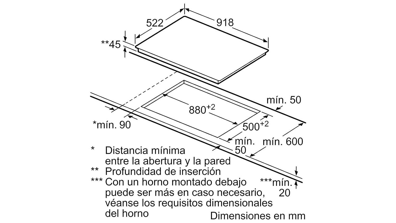 Balay - Placa vitrocerámica 3eb797lu con control temperatura ...