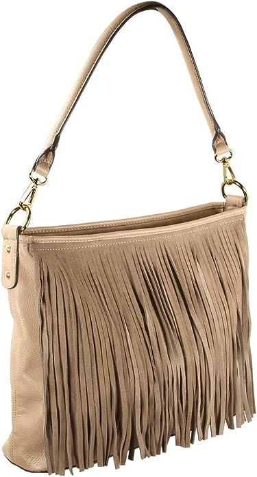 New Genuine Suede Western Leather Fringe Crossbody Bag Handbag Purse Thunderbird SALE