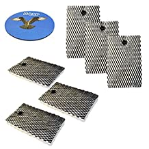 HQRP 6-pack Filter for Bionaire BCM645 BCM646 BCM646C BCM655 BCM657 BCM657-U BCM658-CN BCM658U Humidifier + HQRP Coaster