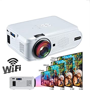 Konnison-1 Mini proyector LED HD 1080P Proyector de Video 1500 ...