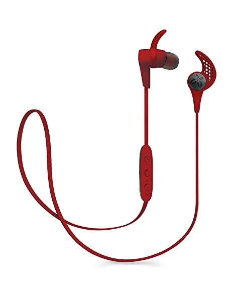 Jaybird X3 In-Ear Wireless Bluetooth Sports Headphones - Sweat-Proof - Universal Fit - 8 Hours Battery Life - RoadRash Red at amazon