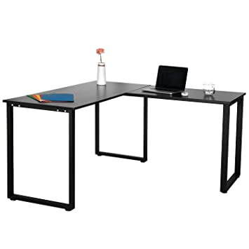 Amazon.com: Merax L-Shaped Office Workstation Computer Desk Corner ...