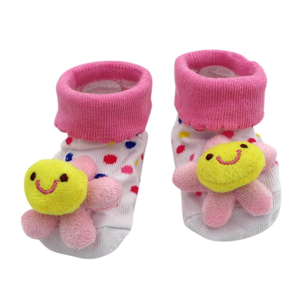 Super Cute Cartoon Socks for Newborn Baby 0-12months, Girls Boys Anti-Slip Socks Slipper Shoes Boots by Kolylong