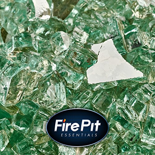 Irish Green - Fire Glass for Indoor and Outdoor Fire Pits or Fireplaces | 10 Pounds | 1/4 Inch, Reflective by Fire Pit Essentials