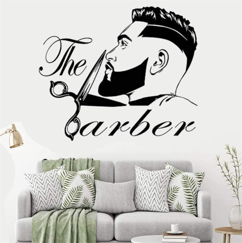 Wanling Wall Sticker The Barber Wall Decal Removable Pvc Decoration Barbershop Beauty Salon Decor Home Kitchen